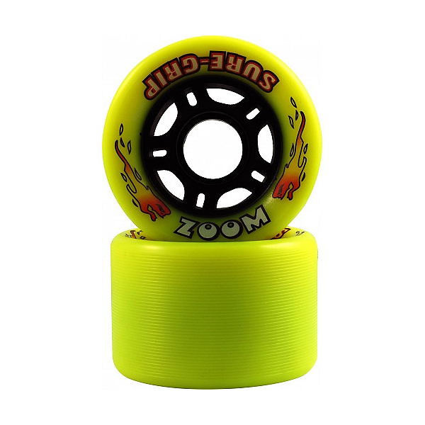 Sure Grip International Zoom Roller Skate Wheels - 8 Pack, Yellow, 600