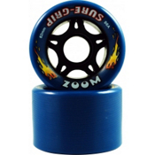 Sure Grip International Zoom Roller Skate Wheels - 8 Pack, Blue, medium