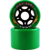 Sure Grip International Zoom Roller Skate Wheels - 8 Pack, Green, medium