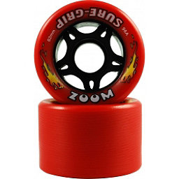 Sure Grip International Zoom Roller Skate Wheels - 8 Pack, Red, 256
