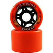 Sure Grip International Zoom Roller Skate Wheels - 8 Pack 2013, Orange, medium