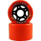 Sure Grip International Zoom Roller Skate Wheels - 8 Pack, Orange, medium