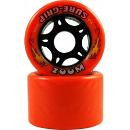 Sure Grip International Zoom Roller Skate Wheels - 8 Pack, Orange, 256
