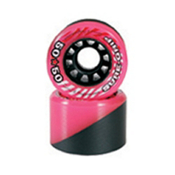 Sure Grip International 50/50 Roller Skate Wheels - 8 Pack, Pink-Black, medium