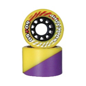Sure Grip International 50/50 Roller Skate Wheels - 8 Pack, Yellow-Purple, medium