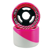 Sure Grip International 50/50 Roller Skate Wheels - 8 Pack, White-Pink, medium