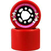 Sure Grip International Fugitive Roller Skate Wheels - 8 Pack, Red, medium