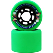 Sure Grip International Fugitive Roller Skate Wheels - 8 Pack, Green, medium