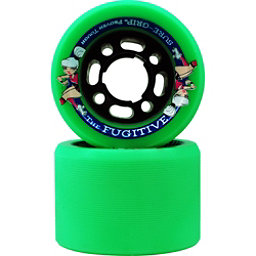 Sure Grip International Fugitive Roller Skate Wheels - 8 Pack, Green, 256