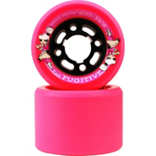 Sure Grip International Fugitive Roller Skate Wheels - 8 Pack, Pink, medium