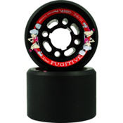 Sure Grip International Fugitive Roller Skate Wheels - 8 Pack, Black, medium