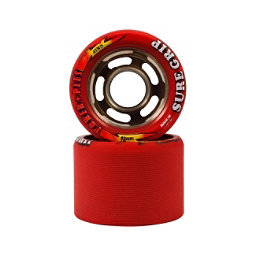 Sure Grip International Power Plus Roller Skate Wheels - 8 Pack, Red, 256