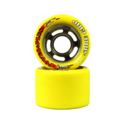 Sure Grip International Power Plus Roller Skate Wheels - DU93A_8 Pack 2014, Yellow, medium