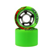 Sure Grip International Power Plus Roller Skate Wheels - DU93A_8 Pack 2014, Green, medium
