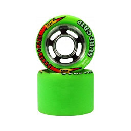 Sure Grip International Power Plus Roller Skate Wheels - 8 Pack, Green, 256