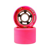 Sure Grip International Power Plus Roller Skate Wheels - 8 Pack, Pink, medium