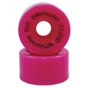 RC Medallion Plus Roller Skate Wheels - 8 Pack, Pink, medium