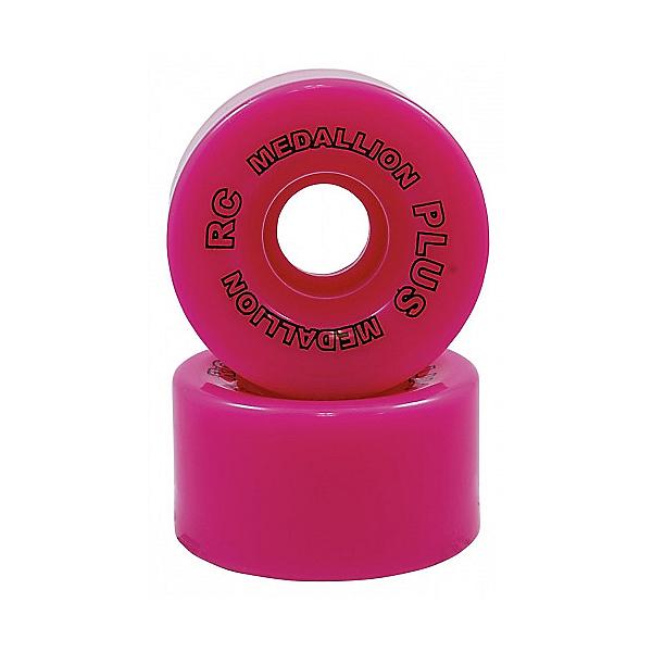 RC Medallion Plus Roller Skate Wheels - 8 Pack, Pink, 600