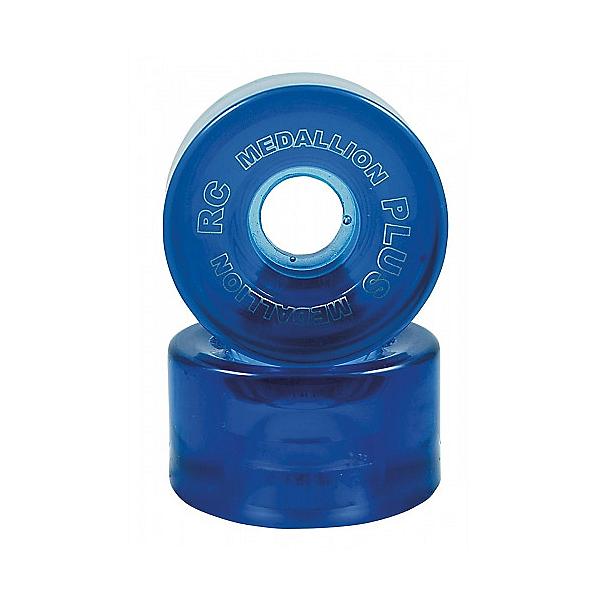 RC Medallion Plus Roller Skate Wheels - 8 Pack, Blue, 600