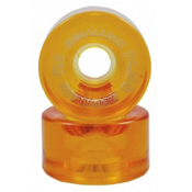RC Medallion Plus Roller Skate Wheels - 8 Pack 2013, Amber, medium