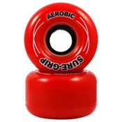 RC Aerobic Roller Skate Wheels - 8 Pack 2013, Red, medium