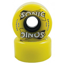 Hyper Sonic Roller Skate Wheels - 8 Pack, Yellow, 256