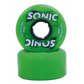 Hyper Sonic Roller Skate Wheels - 8 Pack, Green, medium