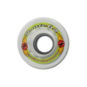 Kryptonics Route 62mm Roller Skate Wheels - 8 Pack, Clear, medium