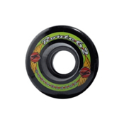 Kryptonics Route 62mm Roller Skate Wheels - 8 Pack 2014, Black, medium