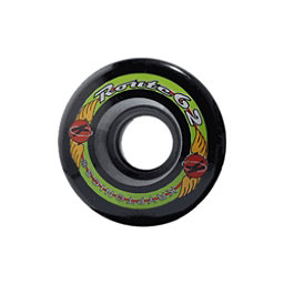 Kryptonics Route 62mm Roller Skate Wheels - 8 Pack, Black, 256