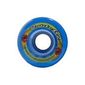 Kryptonics Route 62mm Roller Skate Wheels - 8 Pack 2013, Clear Blue, medium