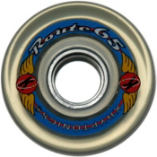 Kryptonics Route 65mm Roller Skate Wheels - 8 Pack 2013, Clear, medium