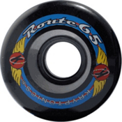 Kryptonics Route 65mm Roller Skate Wheels - 8 Pack 2013, Black, medium