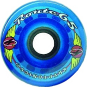 Kryptonics Route 65mm Roller Skate Wheels - 8 Pack 2013, Clear Blue, medium