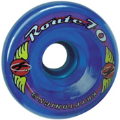 Kryptonics Route 70mm Roller Skate Wheels - 8 Pack 2013, Clear Blue, medium