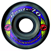 Kryptonics Route 70mm Roller Skate Wheels - 8 Pack 2013, Black, medium