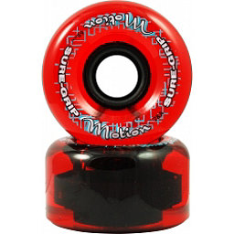 Sure Grip International Motion 62mm Roller Skate Wheels - 8 Pack, Clear Red, 256
