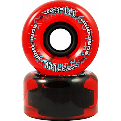 Sure Grip International Motion 62mm Roller Skate Wheels - 8 Pack, Clear Red, large