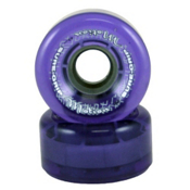 Sure Grip International Motion 62mm Roller Skate Wheels - 8 Pack, Clear Purple, medium