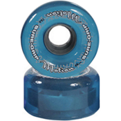 Sure Grip International Motion 65mm Roller Skate Wheels - 8 Pack, Clear Blue, medium