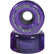 Sure Grip International Motion 65mm Roller Skate Wheels - 8 Pack, Clear Purple, medium