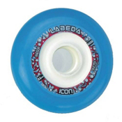 Labeda Icon 84mm Hard Inline Skate Wheels - 10 Pack, Blue-Black, medium