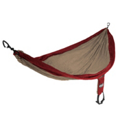 ENO Single Nest Hammock 2016, Khaki-Maroon, medium