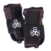 Triple 8 Undercover Wrist Guards, Black, medium