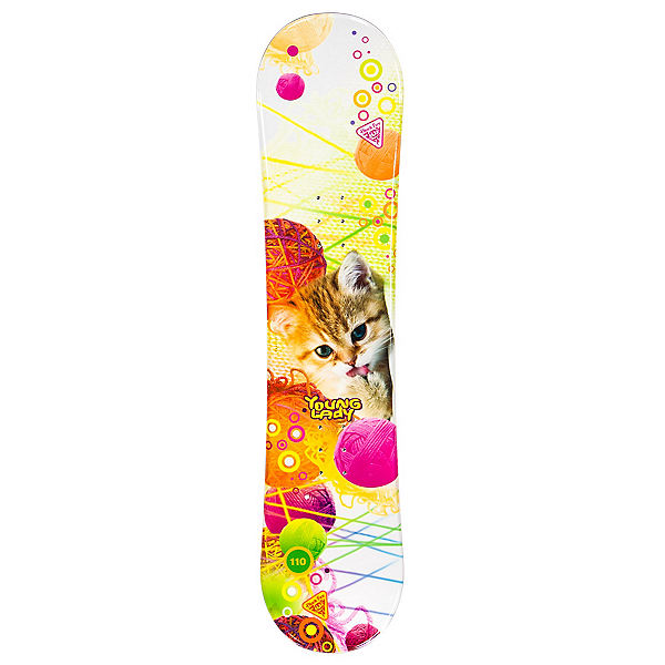 Black Fire Young Lady Cat Girls Snowboard, , 600
