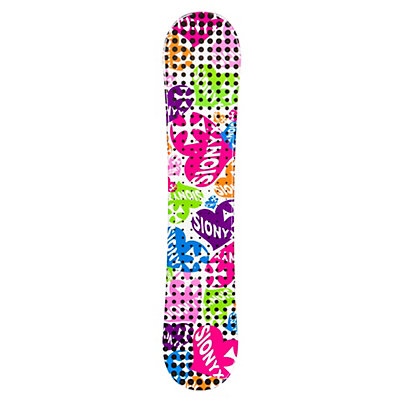 Sionyx Hearts White Girls Snowboard, , viewer