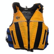MTI Reflex Adult Kayak Life Jacket, Mango-Blue, medium