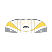 HQ Kites Scout 4.0 Power Kite, White-Yellow, medium