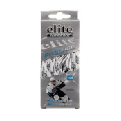 Elite Hockey Prolace Hockey Skate Laces, White-Black, medium