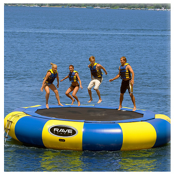 Rave Aqua Jump Eclipse 200 20 Foot Water Trampoline, , 600